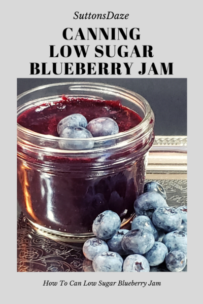 How To Can Low Sugar Blueberry Jam