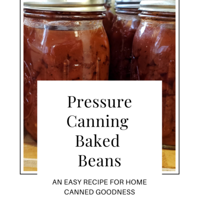 Pressure Canning Baked Beans