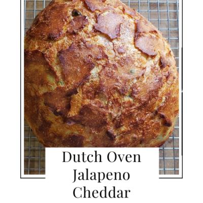 Dutch Oven Jalapeno Cheddar Bread