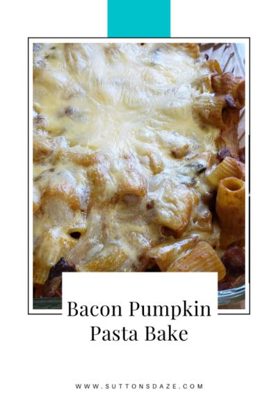 Bacon Pumpkin Pasta Bake